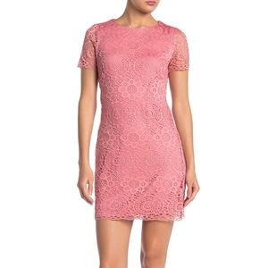 Laundry By Shelli Segal Lace Short Sleeve Dress 10